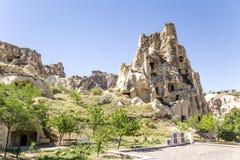 Turquia, Cappadocia Ruínas do monastério antigo da caverna no museu do ar livre de Goreme Imagens de Stock Royalty Free