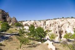 Turquia, Cappadocia Vista cênico do museu complexo do ar livre do monastério da caverna do parque nacional Goreme Foto de Stock