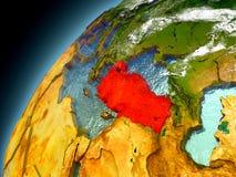 Turquia da órbita de Earth modelo ilustração do vetor