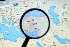 Turquia em Google Maps Imagens de Stock Royalty Free