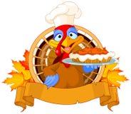 Turquia guarda a torta Imagem de Stock