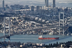 Turquia, Istambul, vista da cidade Foto de Stock Royalty Free