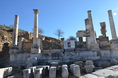 Turquia, Izmir, Bergama em construções Hellenistic do grego clássico, este é uma civilização real, banhos Imagem de Stock