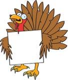 Turquia louca com um sinal ilustração do vetor