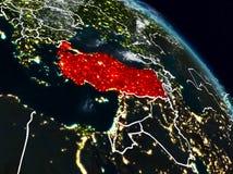 Turquia na noite ilustração stock