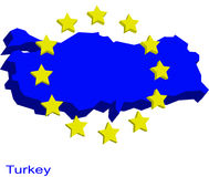 Turquia na UE Foto de Stock
