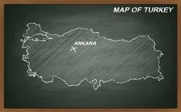 Turquia no quadro-negro Fotos de Stock