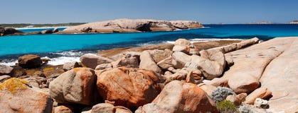 Turquise blue beach of West Australia. Panorama of turquise blue beach of West Australia Stock Photo