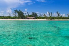Turquise Caribbean Sea. Of Mexico Stock Photos