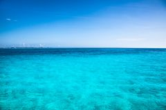 Turquise caribean color water, Mexico. Royalty Free Stock Images