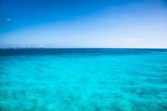 Turquise koloru caribean woda, Meksyk Obrazy Royalty Free
