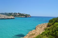 Turquise vacation. Photo taken at the beach of Porto Cristo, a small town on the eastern coast of Mallorca Stock Images