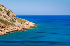 Turquise water of Crete. Turquise water of Mirabello bay on Crete, Greece Royalty Free Stock Photo