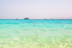 Turquise water of the exotic beach Royalty Free Stock Images