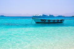 Turquise water of the exotic beach. Egypt Royalty Free Stock Photography
