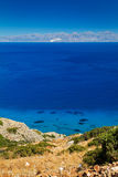 Turquise woda Mirabello zatoka na Crete Zdjęcia Stock