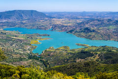 Turquoise湖 图库摄影