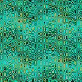 Turquoise abstract background. Abstract wavy background. Teal turquoise green yellow and brown grunge abstract geometric pattern. Hand drawn texture with color Stock Illustration