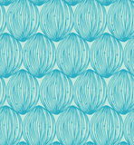 Turquoise abstract linear pattern. Seamless decorative background for design Royalty Free Stock Image