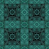 Turquoise seamless lace pattern background Royalty Free Stock Photography