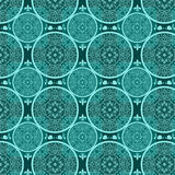 Turquoise abstract seamless lace pattern texture Royalty Free Stock Photo