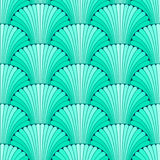 Turquoise abstract shell seamless pattern Royalty Free Stock Images