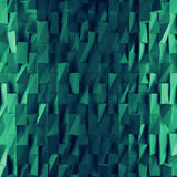 Turquoise abstract squares backdrop. 3d rendering geometric polygons. As tile wall. Interior room Royalty Free Stock Photos