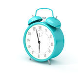 Turquoise alarm clock Royalty Free Stock Photography
