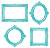 Turquoise antique frame. vector illustrations. Royalty Free Stock Photos