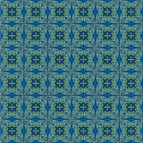 Turquoise antique pattern. Seamless Art Noveau French wallpaper pattern Royalty Free Stock Image