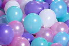 Turquoise background with balloons Royalty Free Stock Photography