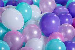 Turquoise background with balloons Royalty Free Stock Images