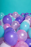 Turquoise background with balloons Royalty Free Stock Image