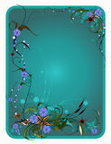 Turquoise background. Bright vector frame. Stock Photo
