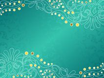 Turquoise background with delicate swirls Stock Photography