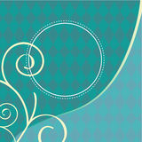 Turquoise Background Illustration Stock Image