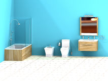 Turquoise bathroom Stock Images