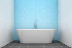 Turquoise bathroom side view to the tub Royalty Free Stock Photo