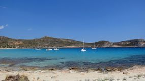Turquoise bay in Greece during the summer Royalty Free Stock Photo
