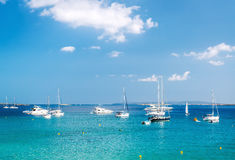 Turquoise bay of Las Salinas Stock Images