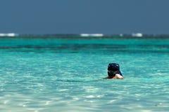 Turquoise bay snorkeling in Ningaloo west australia Royalty Free Stock Image