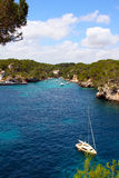 Turquoise bays with yachts in Mallorca Royalty Free Stock Image