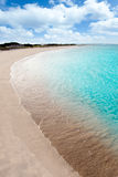 Turquoise beach in formentera Stock Photos