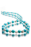 Turquoise beads Stock Photos