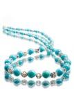 Turquoise beads stock photos