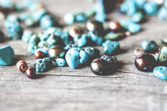 Turquoise Beads Royalty Free Stock Photo