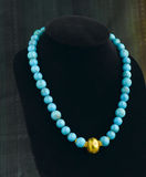 Turquoise beads necklace Royalty Free Stock Image