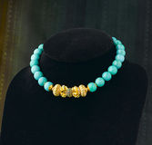 Turquoise beads necklace Royalty Free Stock Images