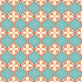 Turquoise and beige pattern Royalty Free Stock Photo