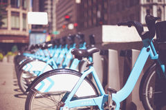 Turquoise bicycles Royalty Free Stock Photos
